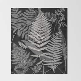 The fern paradise- a plea for the culture of ferns - Francis George Heath - 1908 Ink Black and White Throw Blanket
