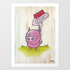 Free Bacon Art Print
