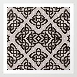 Kaleidoscope Celtic Knot Pattern Print Art Print