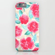 Cottage Peonies Pink iPhone 6 Slim Case