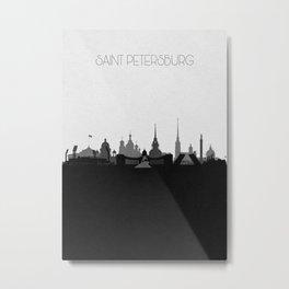 City Skylines: Saint Petersburg Metal Print