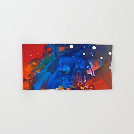 Humo, Vibrant wet on wet abstract, NYC artist Hand & Bath Towel
