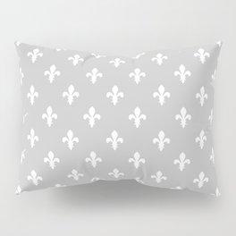 Fleur-de-Lis (White & Gray Pattern) Pillow Sham
