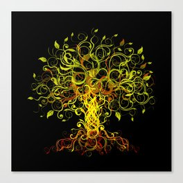 Tree Swirls Canvas Print