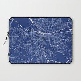Syracuse Map, USA - Blue Laptop Sleeve
