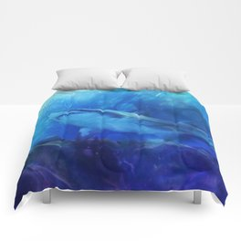 Make Way for the Great White Shark King  Comforters
