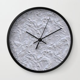 White Rough Plastering Texture Wall Clock