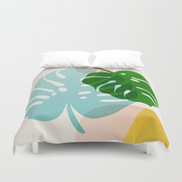 Abstraction_PLANTS_01 Duvet Cover