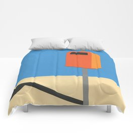 Orange Trash Can Comforters