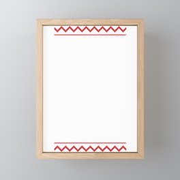 Ugly Christmas Viking Fa La La La La Valhalla La Framed Mini Art Print