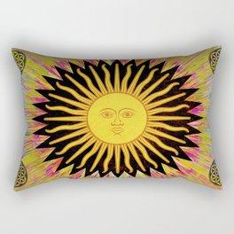 Psychedelic Sun Star Rectangular Pillow