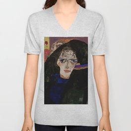 """Egon Schiele """"Mourning Woman"""" Unisex V-Neck"""