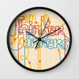 Tinkering Thinker Wall Clock