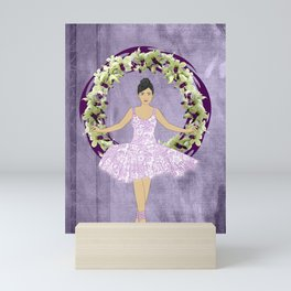 Ballerina Orchid Wreath Mini Art Print