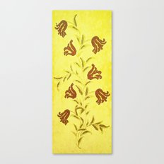 Flowers In Sketch Canvas Print