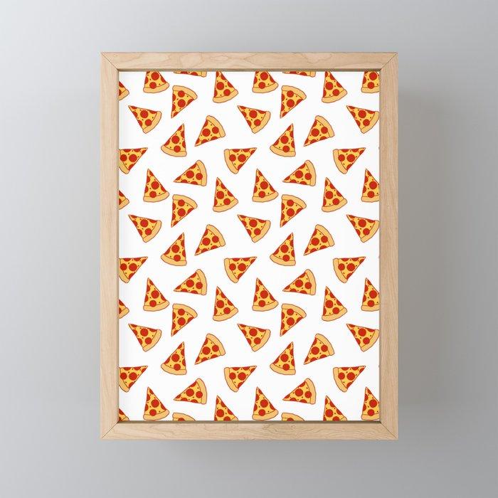 PIZZA FAST FOOD PATTERN Framed Mini Art Print