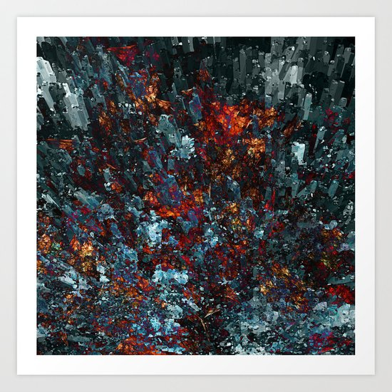 ...and the Earth Trembled Art Print