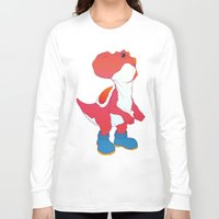 yoshi Long Sleeve T-shirts featuring Yoshi Red by bloozen