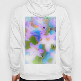 Bouquet in Blue and Pink 3 - enhanced and in blue white and green actually Hoody