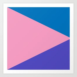 Triangles (Miami) Art Print