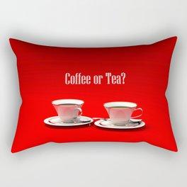 Coffee Or Tea Rectangular Pillow