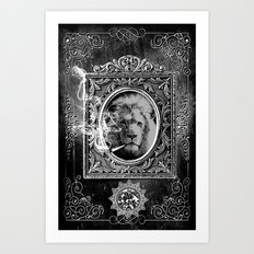 King Smokey black and white Art Print