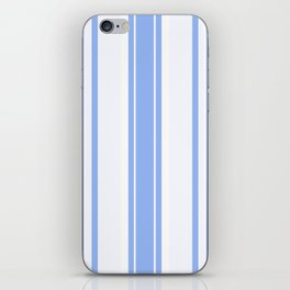 Strips - blue and white. iPhone Skin