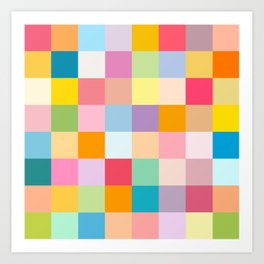Candy colors Art Print