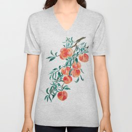 peach watercolor Unisex V-Neck