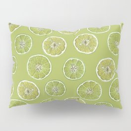Lime Oranges Pattern Pillow Sham
