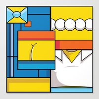 simpson Canvas Prints featuring Abstract Simpson by REMart