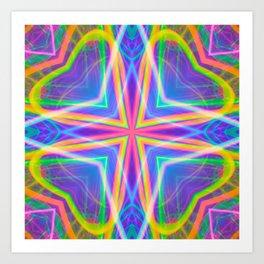 techno wave tile Art Print
