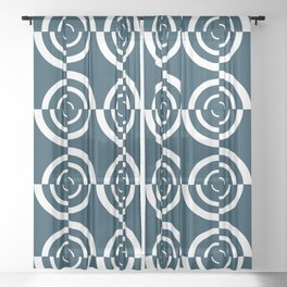 Op art circles Sheer Curtain