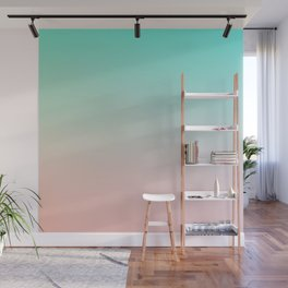 HEAVY RAINS - Minimal Plain Soft Mood Color Blend Prints Wall Mural