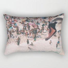 Swan on the Beach Rectangular Pillow