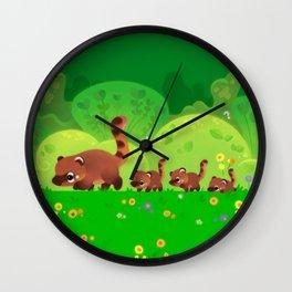 Coati family Wall Clock