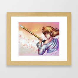 Anime Kendo Girl Framed Art Print