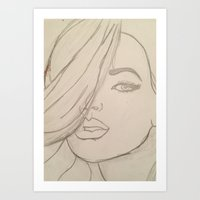 jojo Art Prints featuring JoJo by Art By JuJu