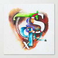 letters Canvas Prints featuring Letters by Hande Unver