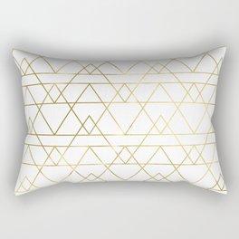 Modern Gold Rectangular Pillow