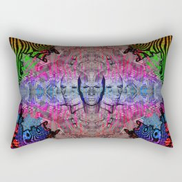 FACE TRANCE Rectangular Pillow