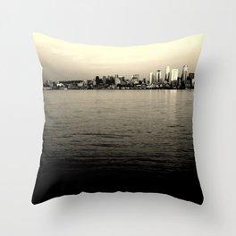 Alki Beach - Seattle, WA Throw Pillow