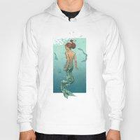 mermaid Hoodies featuring Mermaid by Calavera