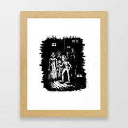 A step into Oblivion Framed Art Print