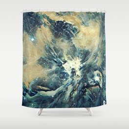 ALTERED Sharpest View of Orion Nebula Shower Curtain