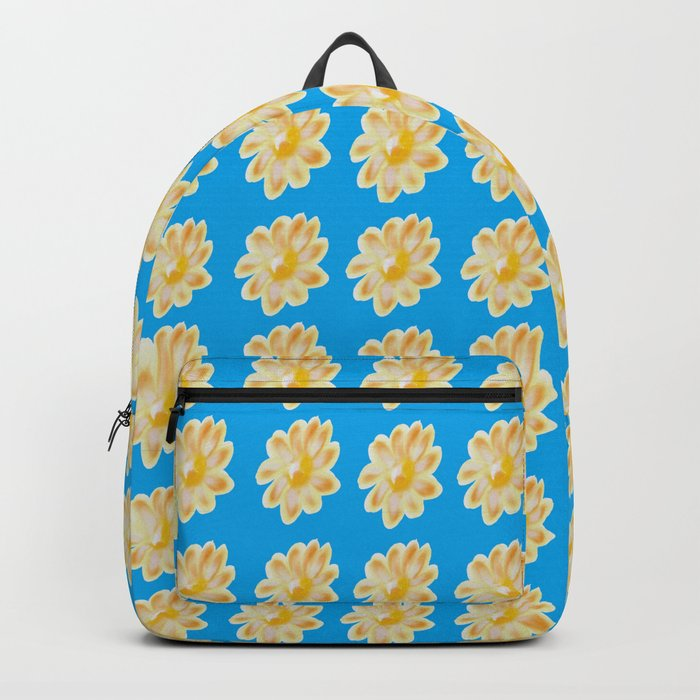 Golden Daisy Swimming in Blue Backpack