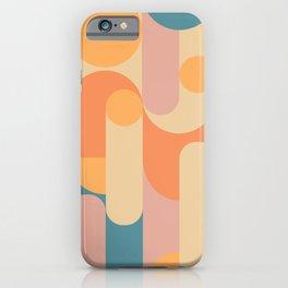 Retro Geometric Pattern iPhone Case