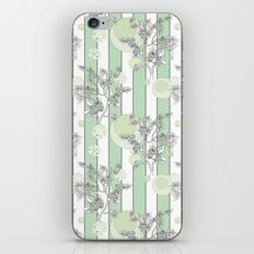 Mint color striped pattern .  iPhone & iPod Skin