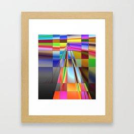 highway to rectangular city Framed Art Print