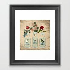 bottled spring Framed Art Print
